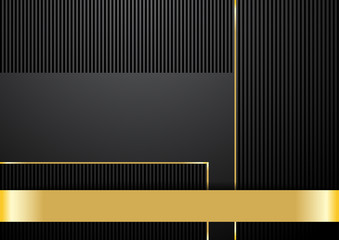 Classy background in black and gold color