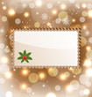 Illustration template frame with mistletoe for design christmas