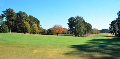 Golf Course in Autumn Season