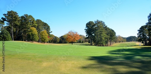 Tuinposter Golf Golf Course in Autumn Season