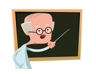 Portrait of a senior elderly teacher