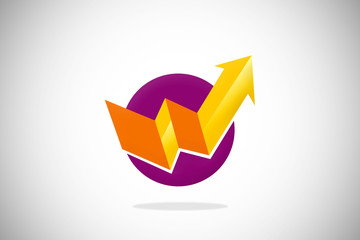 arrow business finance abstract design logo