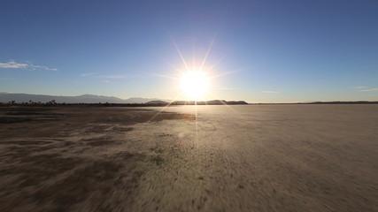 Desert Dry Lake Driving