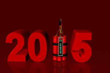 2015 time bomb red numbers no lights