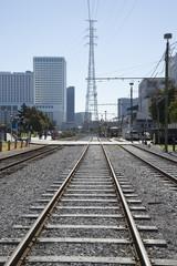 Railroad tracks New Orleans USA