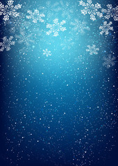 Xmas snowflakes on blue background