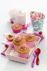 muffins with praline