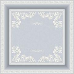 vintage frame on victorian seamless background