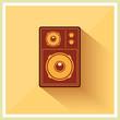 Retro Loudspeaker Flat Vintage Style vector
