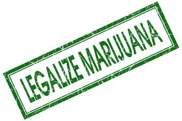 legalize marijuana green square stamp