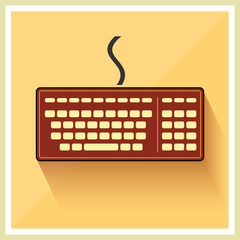 Classic Computer Keyboard Retro