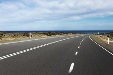 road lead to beach,the great ocean road.
