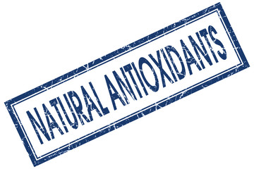 natural antioxidants blue square stamp