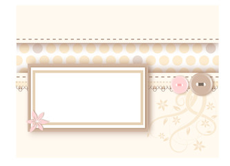 Pastel background with message card - copy space