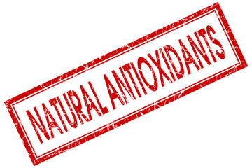 natural antioxidants red square stamp