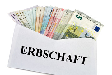 Briefumschlag mit Geldscheine - Erbschaft