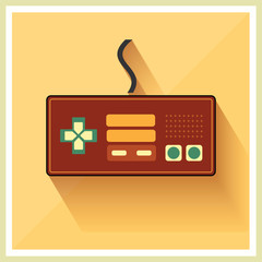 Computer Video Game Controller Joystick Flat Design