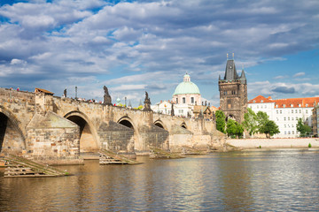 Charles bridge over river Vltava