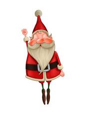 Santa Claus flies