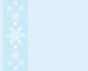 Sweet blue snowflakes greeting card.