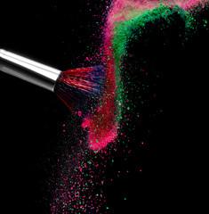 powder brush make up beauty