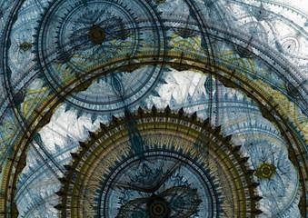 Blue mechanical background