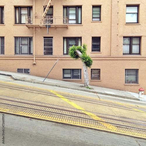 canvas print picture Schräge Straße in San Francisco