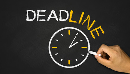deadline concept on blackboard