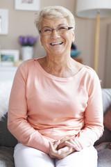 Portrait of beautiful happy senior woman