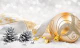 Fototapety Weihnachtsstimmung in gold und silber