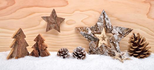 Weihnachts-Arrangement aus Holz