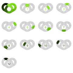 Circle Puzzle 12 - Green 1