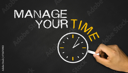 manage your time concept on blackboard