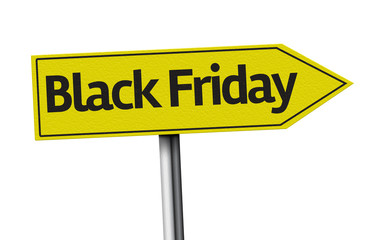 Black Friday creative sign on white background