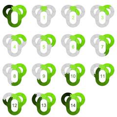 Circle Puzzle 14 - Green 2