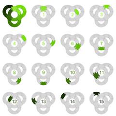 Circle Puzzle 15 - Green 1