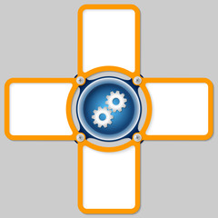 four areas for any text with cogwheels