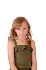 Sad looking small girl.