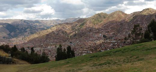 Vue générale de Cuzco, Pérou