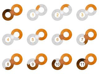 Circle Puzzle 11 - Orange 2