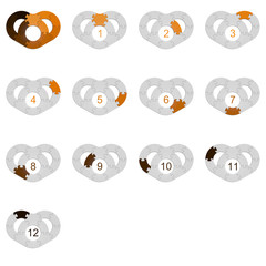 Circle Puzzle 12 - Orange 1