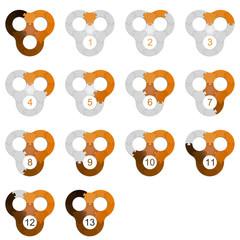 Circle Puzzle 13 - Orange 2