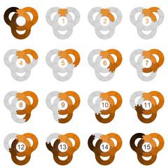 Circle Puzzle 15 - Orange 2