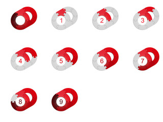Circle Puzzle 09 - Red 2