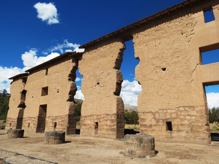 Ruines péruviennes Raqchi, Pérou