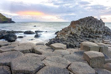 Sunset at Giant s causeway