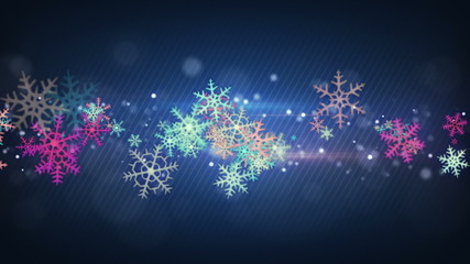 colorful snowflakes seamless loop christmas background