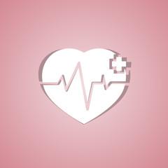 Medical design - heart cardiogram