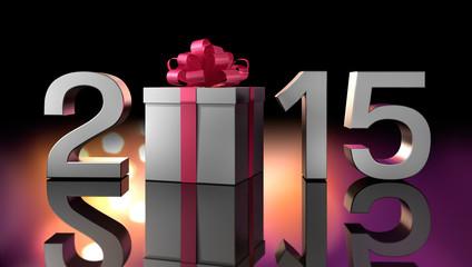 2015 mit Geschenkpäckchen