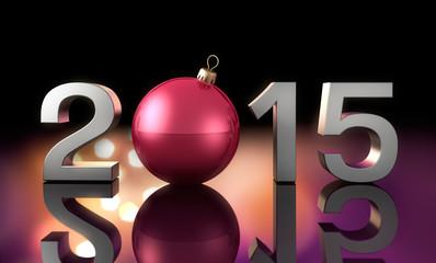 2015 mit Weihnachtskugel